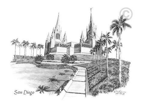 San Diego Temple Recommend Holder