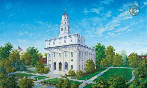Nauvoo Temple Color Sketch (11x14 Print)