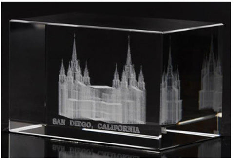 San Diego Temple Crystal Cube (Statuette)