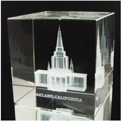Oakland Temple Crystal Cube (Statuette)