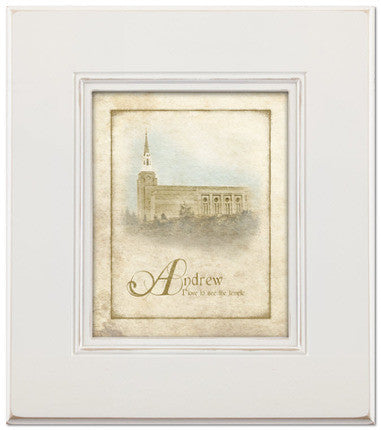 Custom Boston Temple Art (15x17 White Framed Art)