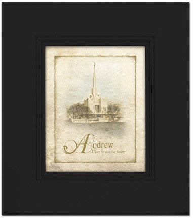 Custom Black Denver Temple Art (15x17 Framed Art) (Framed Art)
