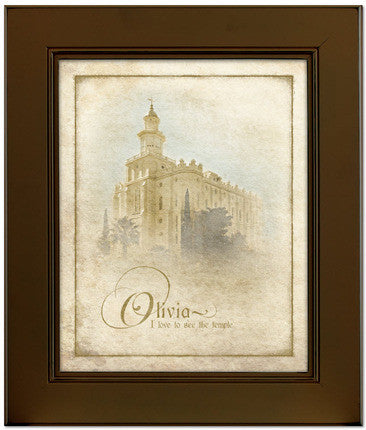 Custom Brown St George Temple Art (15x17 Framed Art) (Framed Art)