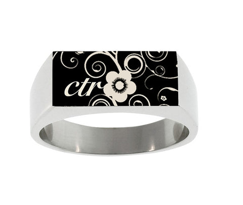 Blossom Square-Top CTR Ring (Size 7)