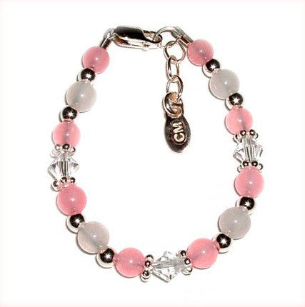 New Arrival Baby Bracelet (Pink with Crystals)