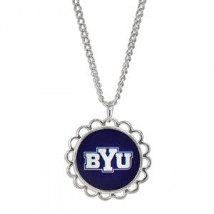 BYU Domed Necklace