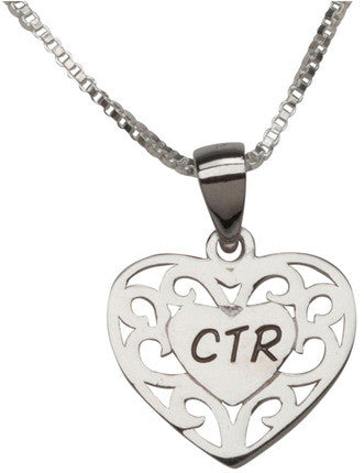 CTR Heart Necklace (Silver)