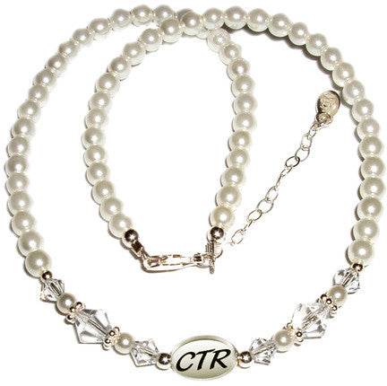 White Pearl CTR Necklace (Accessory)