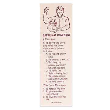 Baptismal Covenant Girl Bookmark