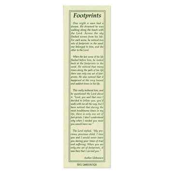 Footprints Poem Bookmark