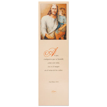 Come unto Me Spanish Bookmark (Girl Version)
