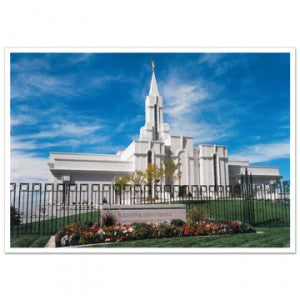 "Bountiful Utah Day Temple Photo €"" 3—4"