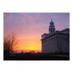 Nauvoo Temple at Sunset 5—7? Card