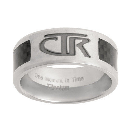 Titanium CTR Ring with Carbon Fiber Inlay (Size 10)