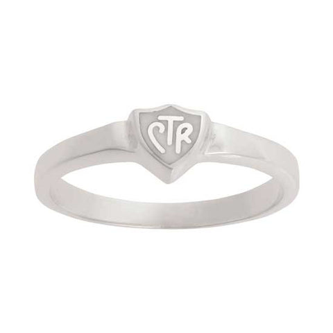 "CTR RING Sterling Silver ""Retro White"" J58W"