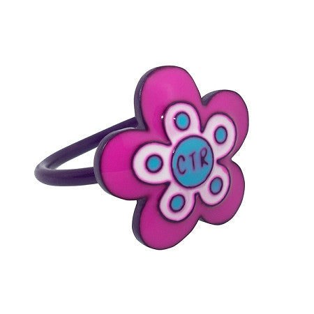 "Adjustable ""Flower Power"" Pinch fit CTR Ring K1"