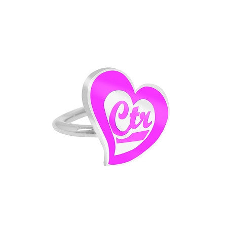 "Adjustable ""CTR Love"" Pinch fit CTR Ring K4"