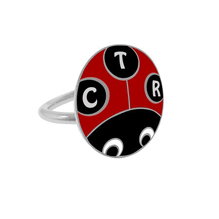 "Adjustable ""Lucky Ladybug"" Pinch fit CTR Ring K6"