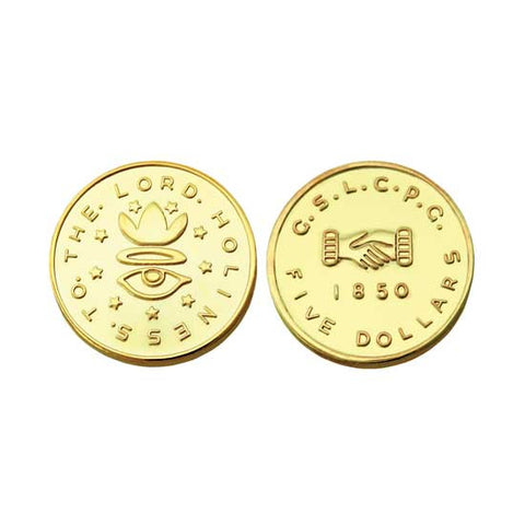 $5.00 1850 Mormon Gold Coin Replica M10