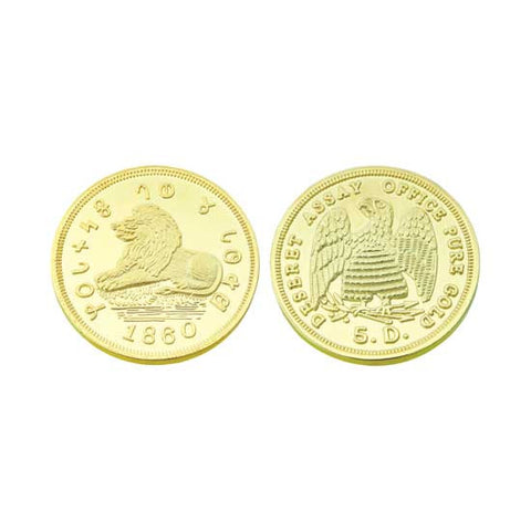 $5.00 1860 Mormon Gold Coin Replica M11