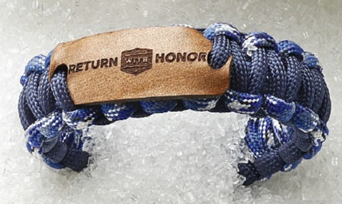 Return with Honor Paracord Wristband