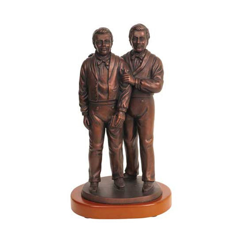 "10"" Brothers Joseph & Hyrum with Wood Base S27w"