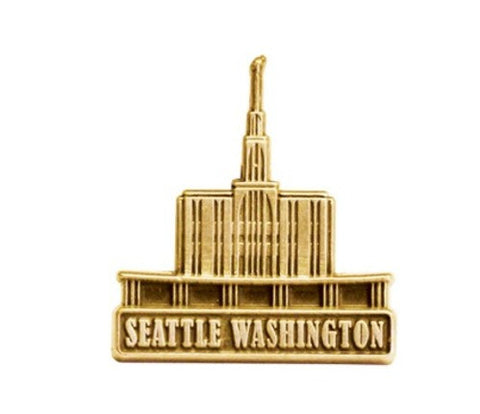 Seattle Temple Pin (Silver)
