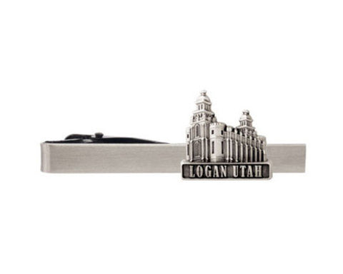 Logan Temple Tie Bar (Silver)