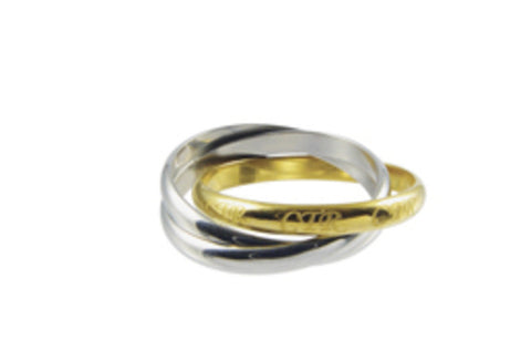 Two-Tone Roll CTR Ring (Size 7)