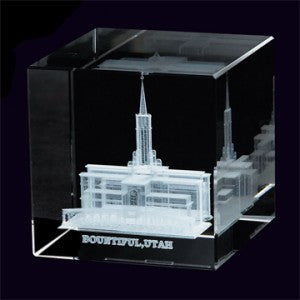 Bountiful Utah Temple Cube