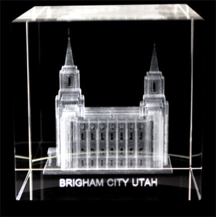 Crystal Cube Brigham City Temple (Crystal)