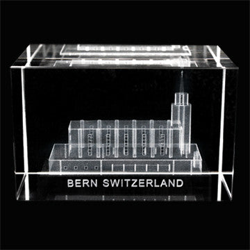 Bern Switzerland Temple Crystal Cube
