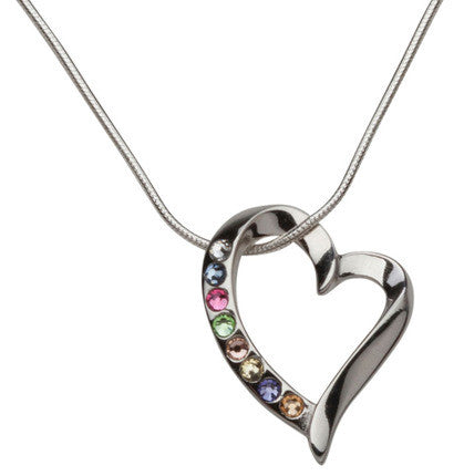 Young Women Values Floating Heart Necklace (Silver) - Original