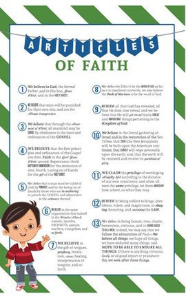 Articles of Faith Poster (11x17 for Boys)