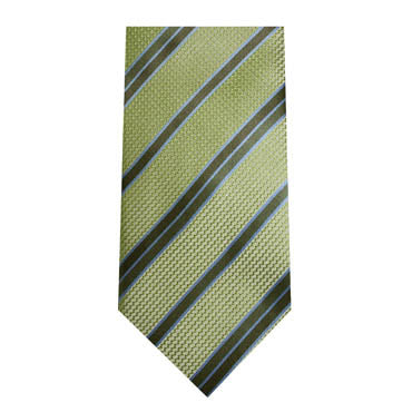 342 Mens Lime Green Turquoise Stripe