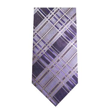 347 Mens Purple Plaid Tie