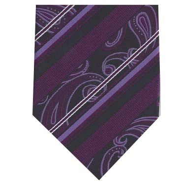 323 Mens - Black/Purple Paisley Stripe