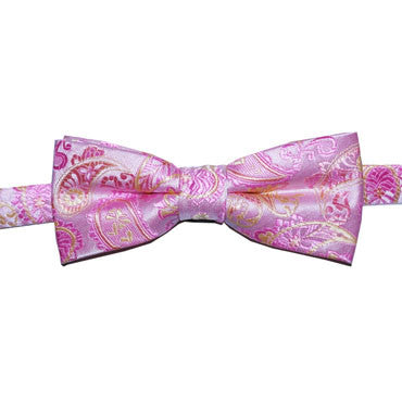326 Boys Bowtie Pink Paisley