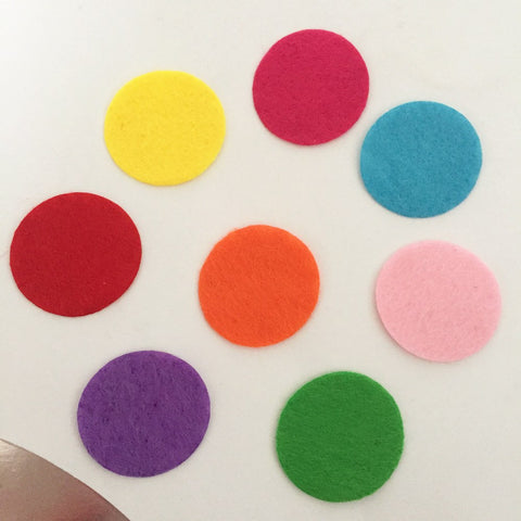 100pieces/lot  30mm mix color Padded Felt round shape craft/ DIY Appliques  Clothing decoration Scrapbook  A15C