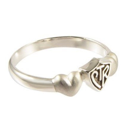 Satin Hearts CTR Ring (Size 5)