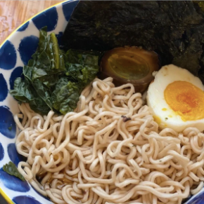 Healthy Instant Noodles with Miso Pickled Eggs