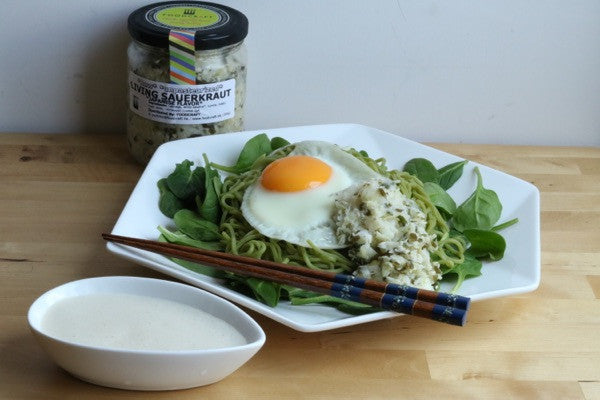 Soba Salad with Sauerkraut and Miso Sauce