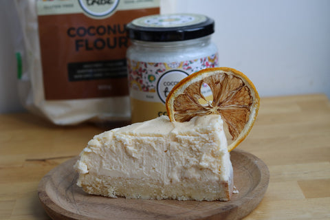 Low Carb Lemon Cheesecake with coconut flour crust