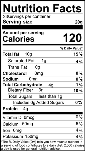 Activated Almonds Nutritional Value