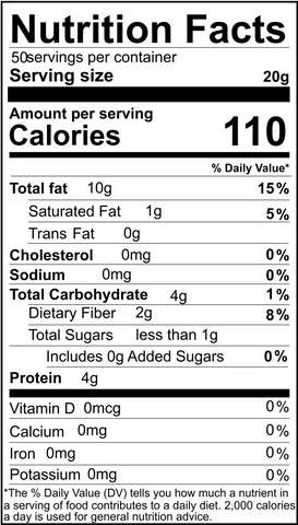soaked and dehydrated sunflower seeds nutritional info