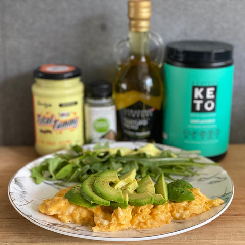 Keto Collagen Scramble Eggs