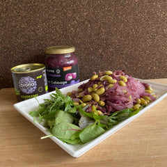 Purple Cabbage and Edamame Vermicelli