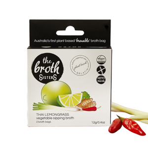 The Broth Sisters Vegetable Sipping Broth, Thai Lemongrass - 12g x 2 - FoodCraft Online Store