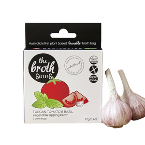 The Broth Sisters Vegetable Sipping Broth, Tuscan Tomato & Basil - 12g x 2 - FoodCraft Online Store