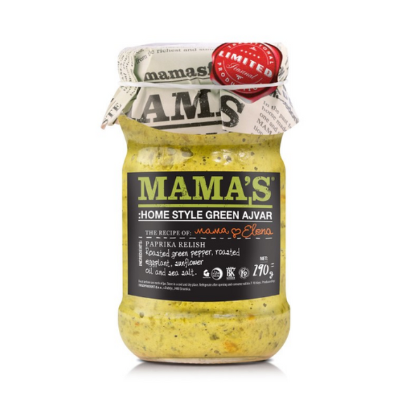 Mama's Home Style Green Ajvar Roasted Pepper Spread - 290g - FoodCraft Online Store